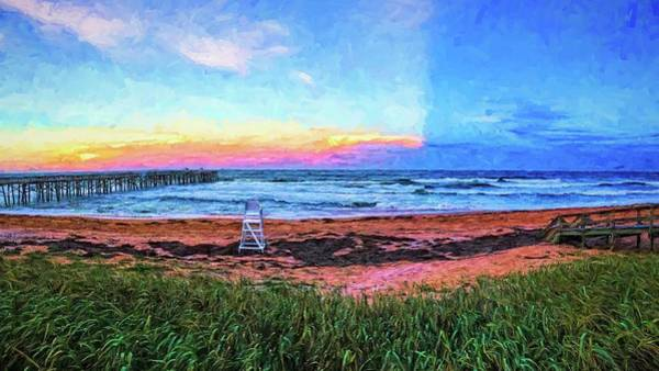Photograph - Half A Sunset Colors by Alice Gipson