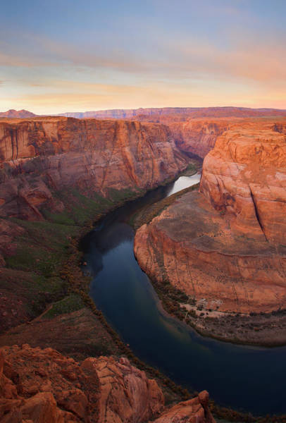 Horseshoe Bend Photograph - Half Bend Sunrise by Mike  Dawson
