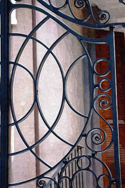 Photograph - Half Circles On Iron Gate by Donna Bentley