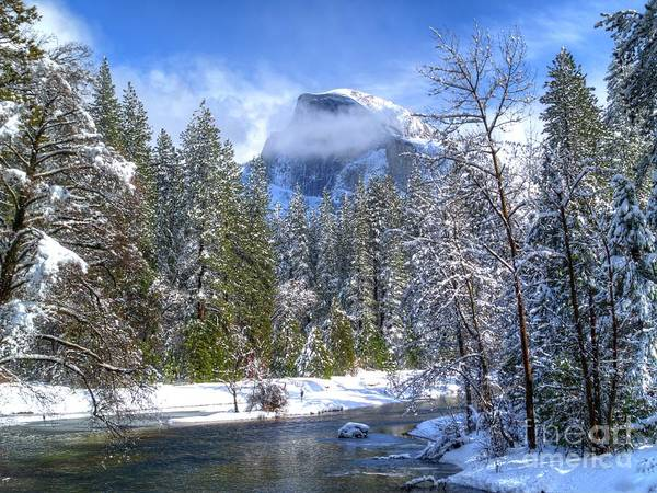 Merced Photograph - Half Dome And The Merced River by Bill Gallagher