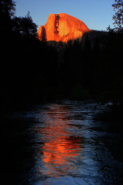 Photograph - Half Dome From Sentinel Bridge Alpenglow by Raymond Salani III