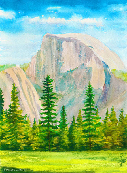 Painting - Half Dome Mountain by Douglas Castleman