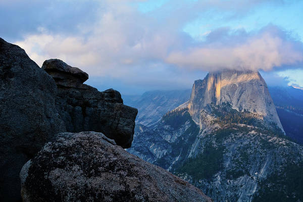 Photograph - Half Dome Rocky Sunset by Kyle Hanson