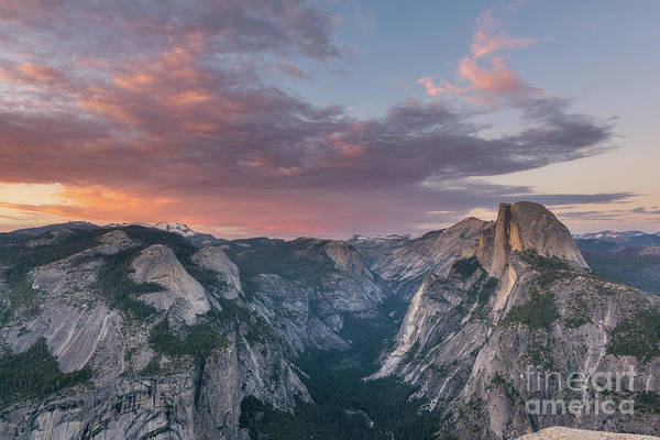 Wall Art - Photograph - Half Dome Sunset  by Michael Ver Sprill