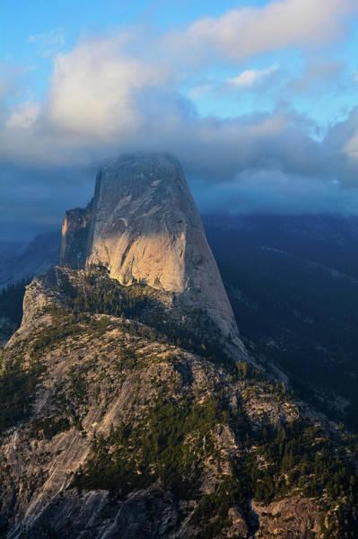 Photograph - Half Dome Sunset Yosemite Portait by Kyle Hanson