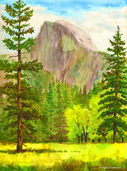 Half Dome With Trees Art Print