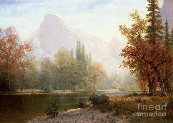 Albert Wall Art - Painting - Half Dome Yosemite by Albert Bierstadt