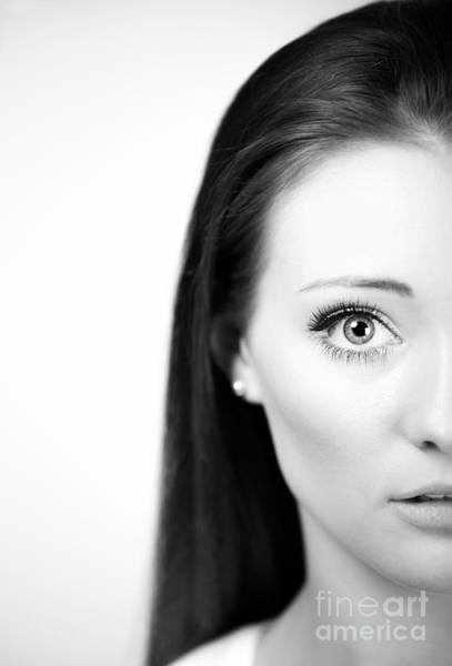 Lip Piercing Wall Art - Photograph - Half Face by Amanda Elwell