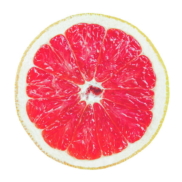 Natural Elements Photograph - Half Grapefruit by Mr Doomits