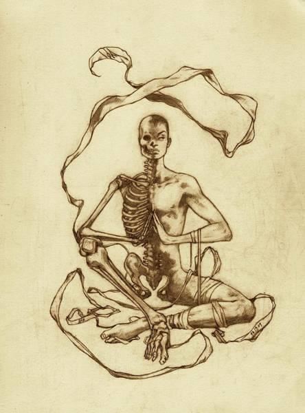 Zen Drawing - Half-life by Amiri Bennett