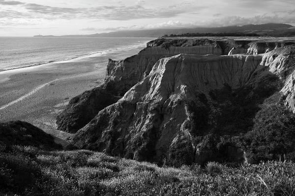 Photograph - Half Moon Bay II Bw by David Gordon