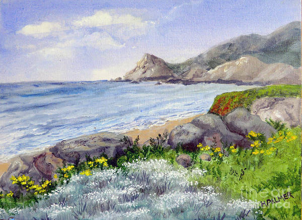 Painting - Half Moon Bay by Mary Palmer