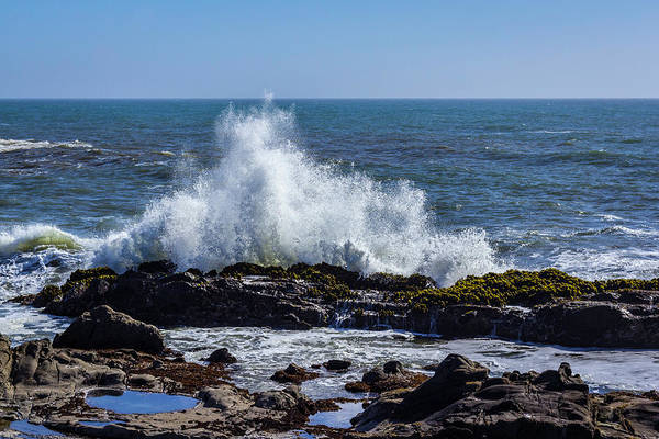Wave Crashing On California Coast 1 Art Print
