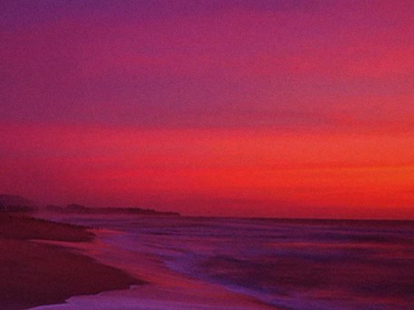 Half Moon Bay Photograph - Half Moon Bay Sunset by Vicky Brago-Mitchell
