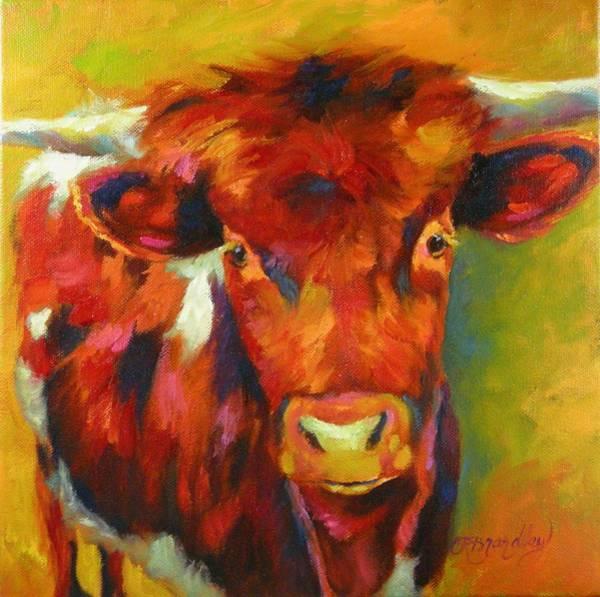 Longhorn Painting - Half Pint by Chris Brandley