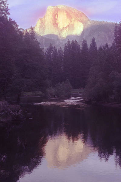 Habenero Photograph - Halfdome Over The Merced by Richard Henne