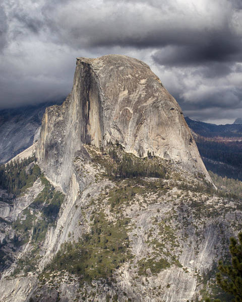 Photograph - Half Dome - Stormy Skies by Harold Rau