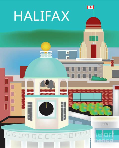 Halifax Nova Scotia Digital Art - Halifax, Canada, Vertical Skyline by Karen Young