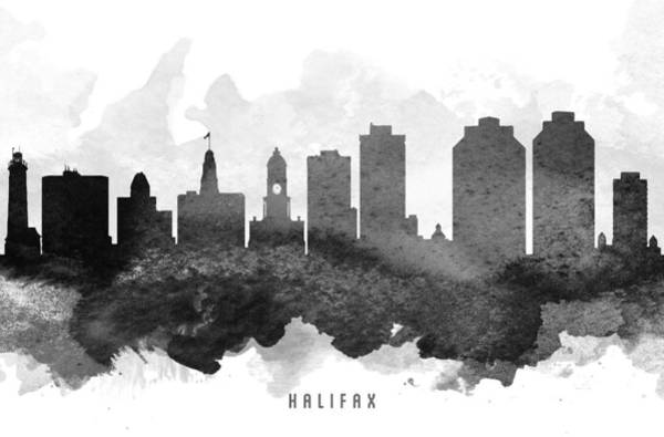 Halifax Wall Art - Painting - Halifax Cityscape 11 by Aged Pixel