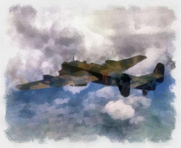 Halifax Wall Art - Painting - Halifax II 35 Squadron Wwii by Esoterica Art Agency