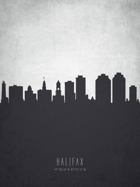 Halifax Wall Art - Painting - Halifax Nova Scotia Cityscape 19 by Aged Pixel