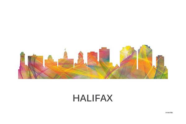 Halifax Nova Scotia Digital Art - Halifax N.s.skyline by Marlene Watson