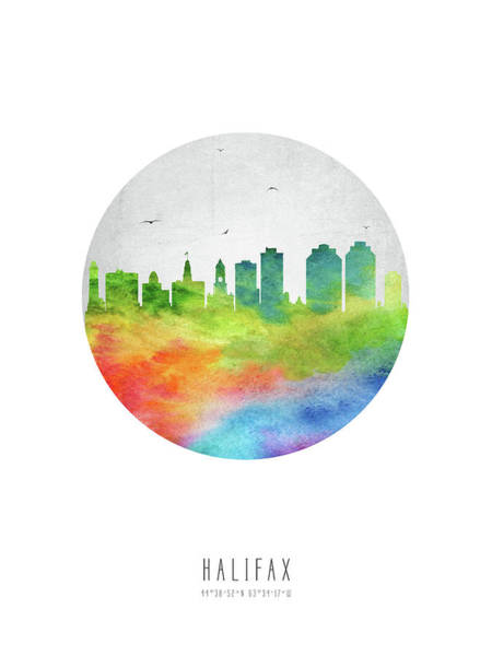 Halifax Wall Art - Digital Art - Halifax Skyline Canshx20 by Aged Pixel