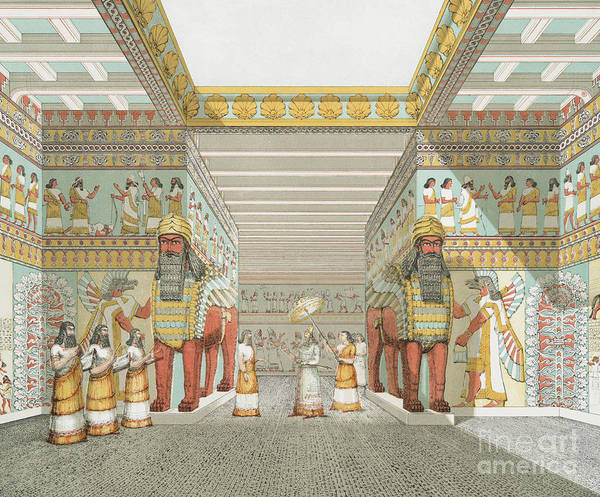 Wall Art - Painting - Hall In Assyrian Palace by Austen Henry Layard