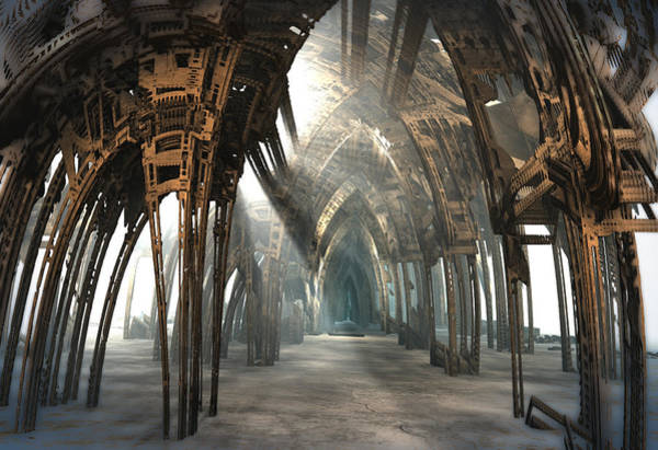 Digital Art - Hall Of Arches by Hal Tenny