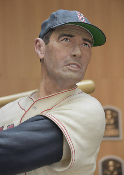 National Baseball Hall Of Fame Photograph - Hall Of Famer Ted Williams by Mike Martin