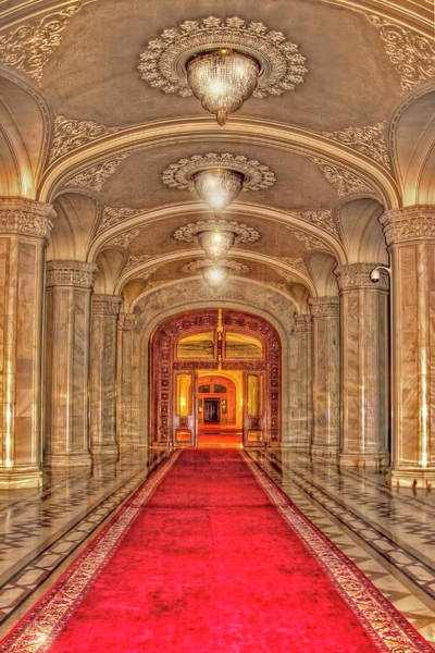 Photograph - Hall Of Hungarian Parliament Building by Kay Brewer