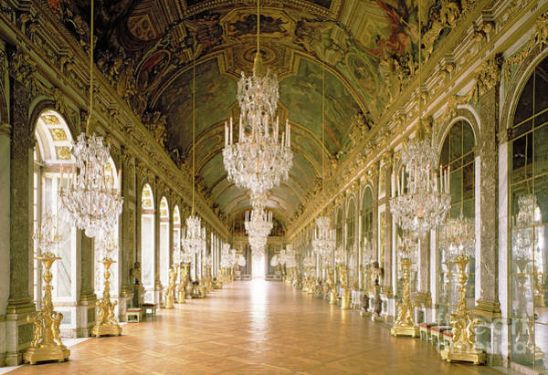 Wall Art - Photograph - Hall Of Mirrors  The Galerie Des Glaces by Jules Hardouin Mansart