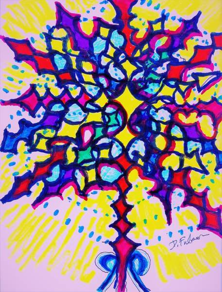 Drawing - Hallelujah by Denise F Fulmer