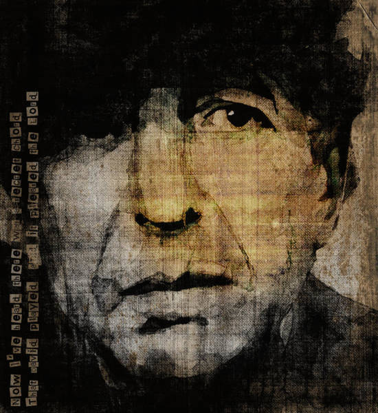 Rock Face Wall Art - Painting - Hallelujah Leonard Cohen by Paul Lovering