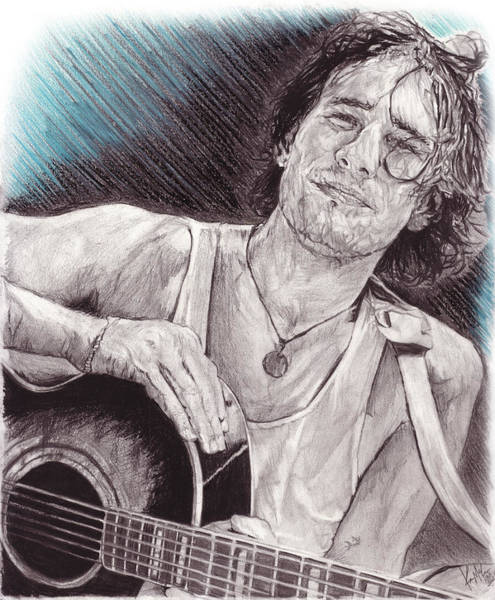 Jeff Buckley Wall Art - Drawing - Hallelujah by Kevin McCabe