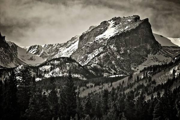 Hallet Peak, Rocky Mountain National Park Art Print