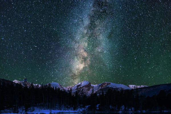 Photograph - Hallett Peak - Milky Way 2 by Gary Lengyel