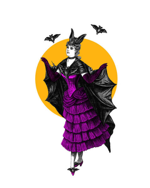 Mystery Digital Art - Halloween Batgirl by Madame Memento