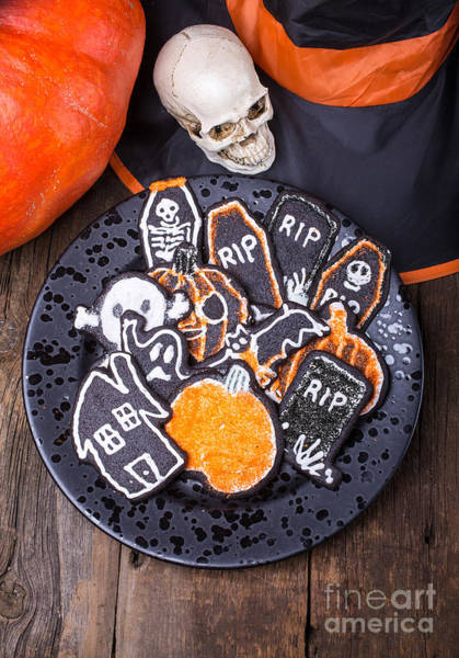Photograph - Halloween Cookies by Edward Fielding