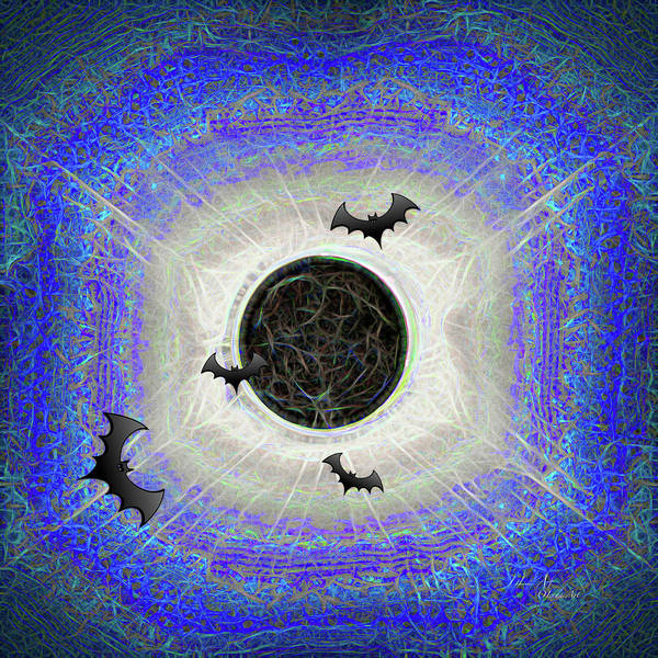 Digital Art - Halloween Eclipse Is Never Over by OLena Art - Lena Owens