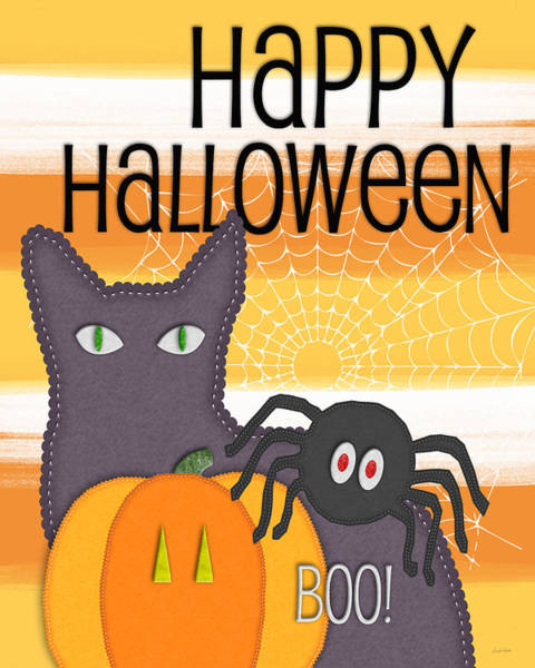 Halloween Digital Art - Halloween Friends- Art By Linda Woods by Linda Woods