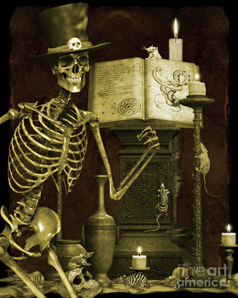 Wall Art - Digital Art - Halloween Graveyard-d by Jean Plout