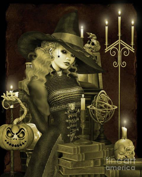 Wall Art - Digital Art - Halloween Graveyard-e by Jean Plout