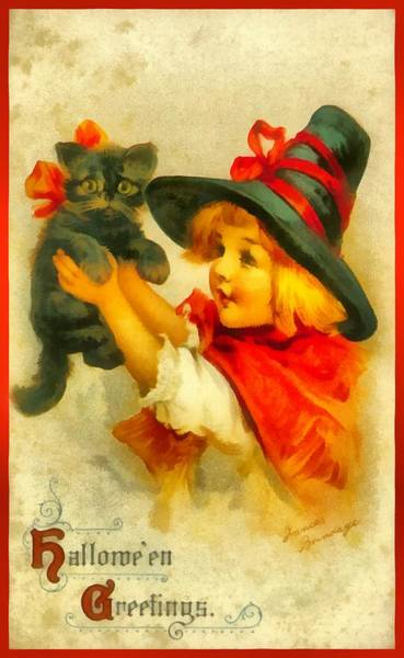 Photograph - Halloween Greetings Kitty by Frances Brundage