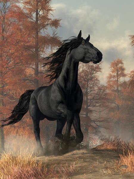 Wall Art - Digital Art - Halloween Horse by Daniel Eskridge