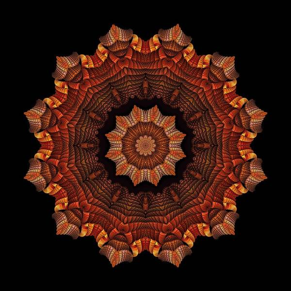 Digital Art - Halloween Kaleidoscope Sliver2-235 by Doug Morgan