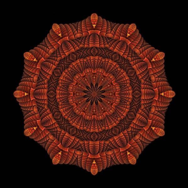 Digital Art - Halloween Kaleidoscope Sliver1-150 by Doug Morgan