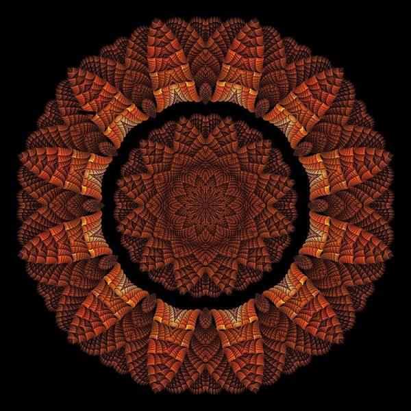 Digital Art - Halloween Kaleidoscope Sliver1-75 by Doug Morgan
