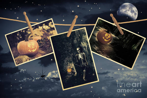 Wall Art - Photograph - Halloween Line by Amanda Elwell