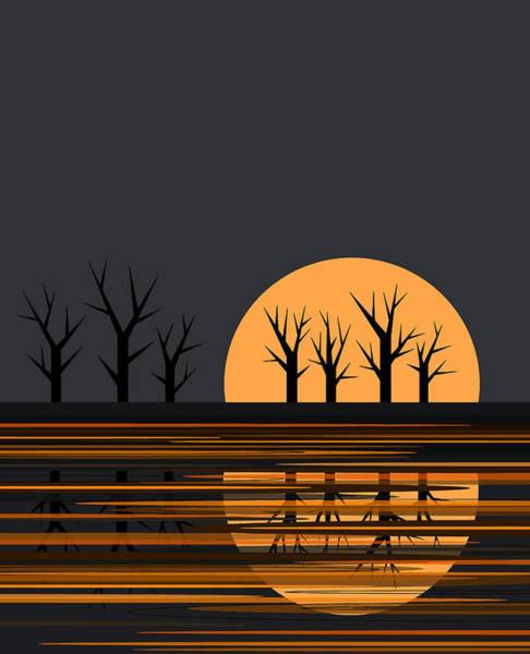 Digital Art - Halloween Moon by Val Arie